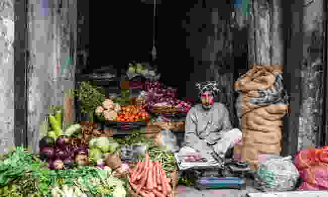 Vegetable seller at Chandni Chowk (Shutterstock)