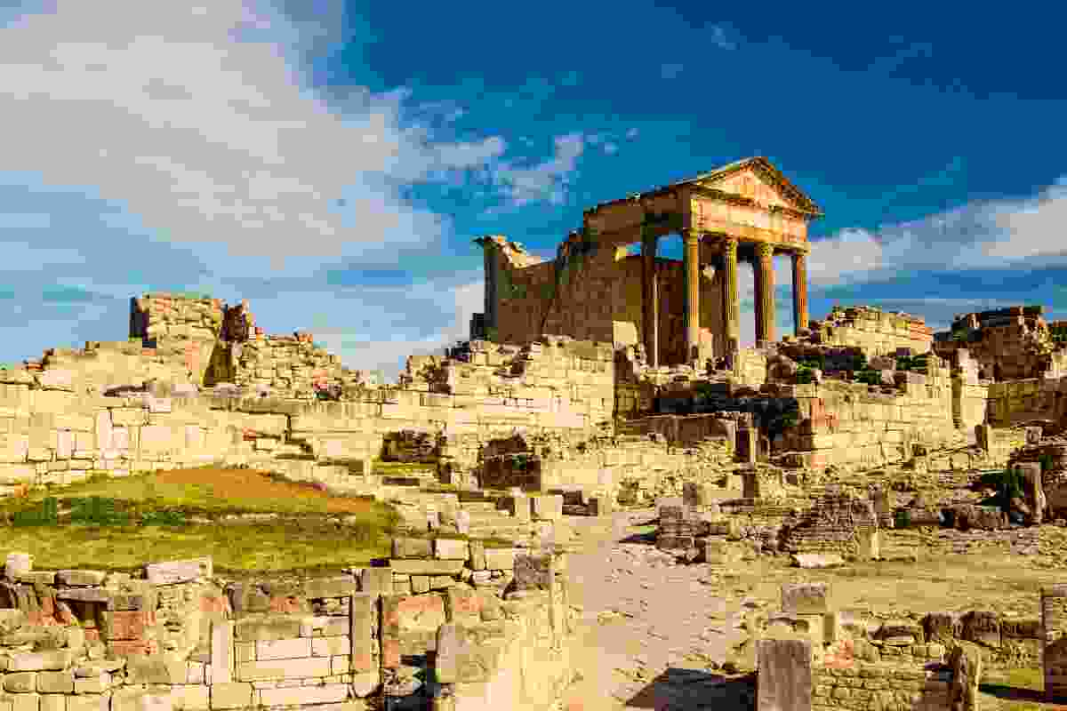 The Roman ruins of Dougga in Tunisia (Shutterstock)