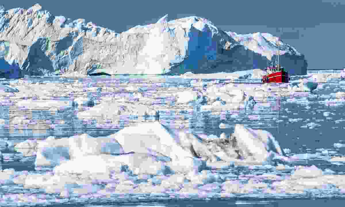 Giant icebergs in Greenland's Disko Bay (Dreamstime)