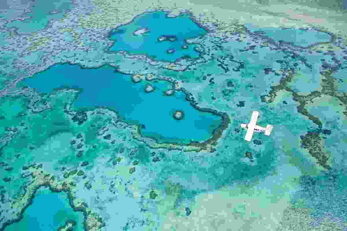 Sea plane, Great Barrier Reef, Australia (Gray Malin)
