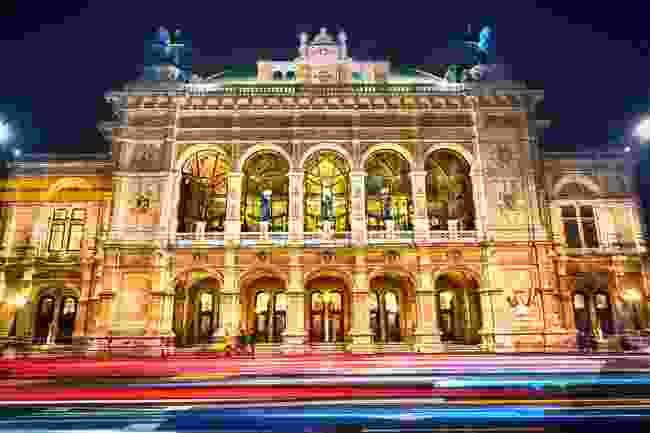 Vienna State Opera at night, Vienna, Austria (Shutterstock)