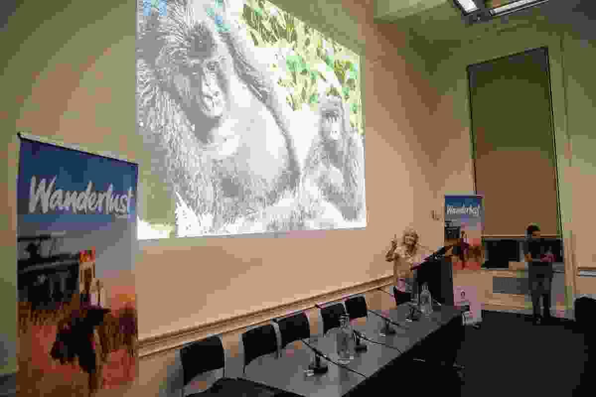 Sue describes seeing a gorilla up close in Rwanda (Victoria Middleton)