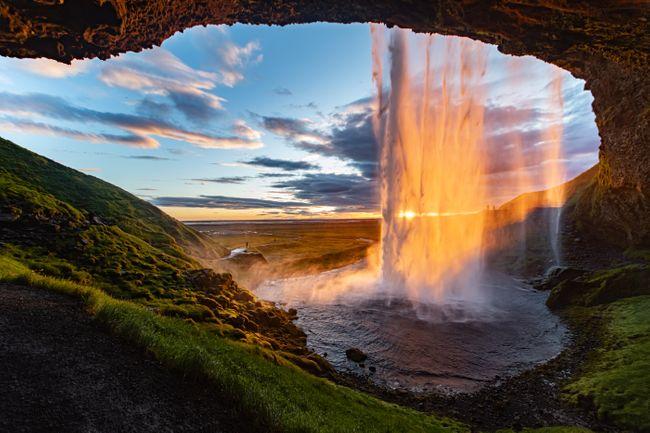 Сельяландсфосс Водопады Исландии.