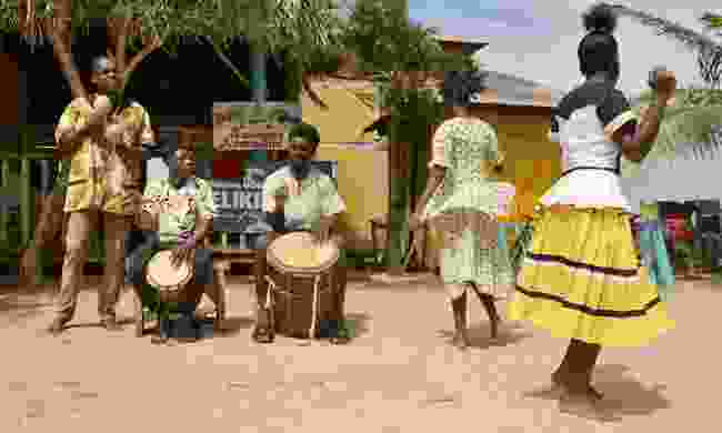 Garifuna troupe performs in Hopkins in Belize (Shutterstock)