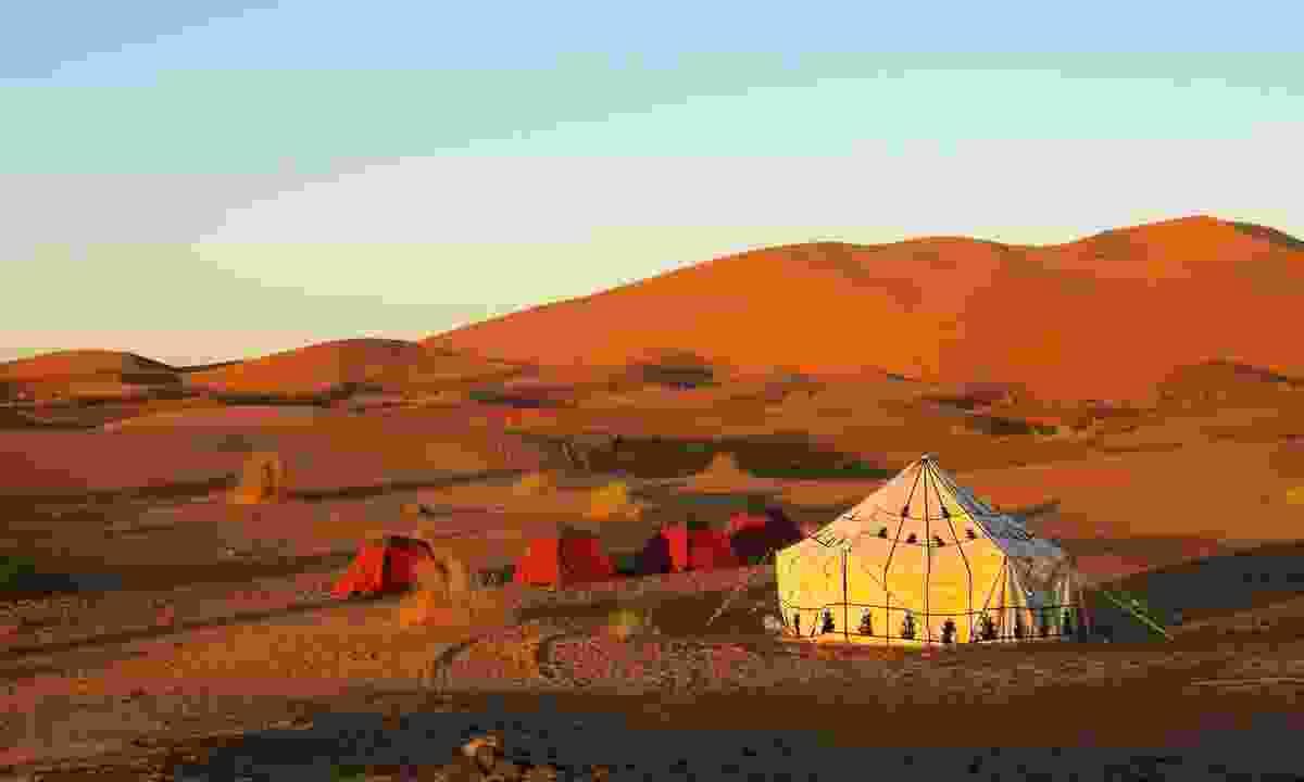 Desert camp (Dreamstime)