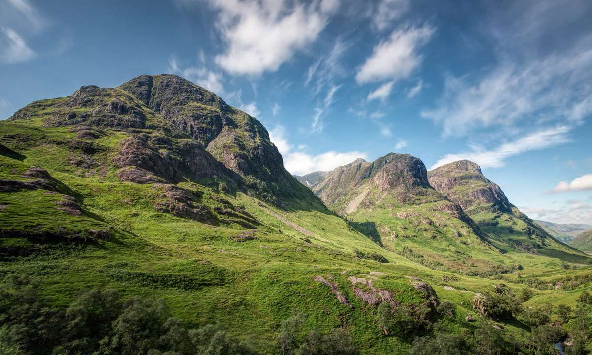 The Three Sisters of Bidean nam Bian, Glen Coe (Dreamstime)