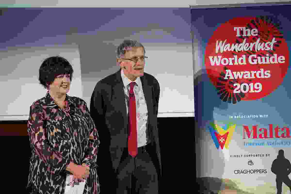 Presenters Lyn and esteemed travel broadcaster Simon Calder take to the stage (Victoria Middleton)