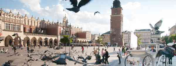 Kraków's beautiful Main Market Square (Polish Tourist Board)