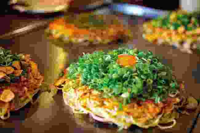 Tuck into okonomiyaki (Shutterstock)