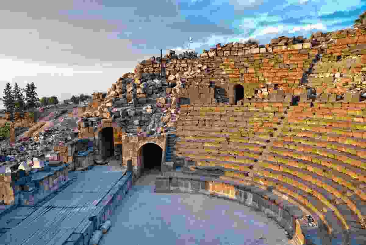 An ancient ruin site in modern day Umm Qais, Jordan (Dreamstime)