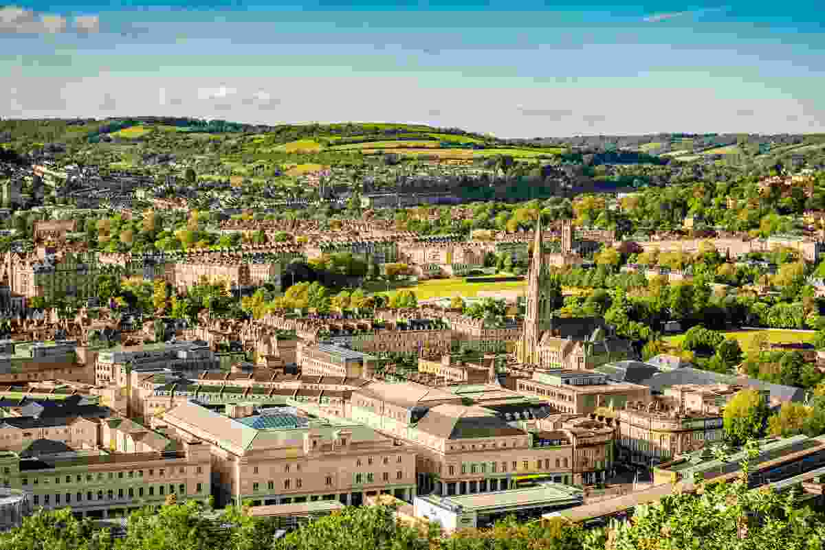 The view of Bath from Alexandra Park, Bath (Shutterstock)