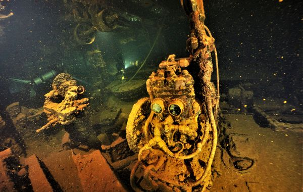 P.S. Always dive with a knowledgeable guide. The ragged edges and tangles of cables of the Japanese wrecks can be dangerous. Oil and fuel leaking in the water, over 70 years later, can also be a problem.