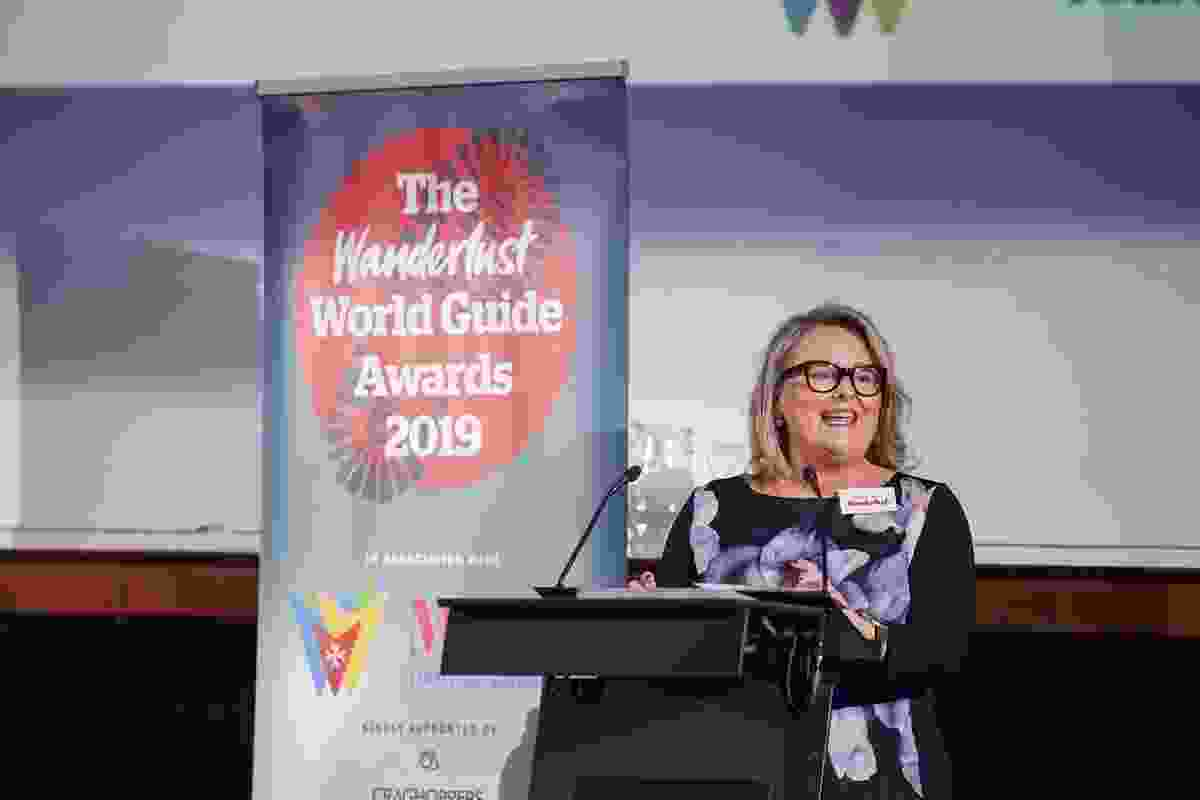 Wanderlust's managing director Tilly McAuliffe kicks off the World Guide Awards ceremony  (Victoria Middleton)