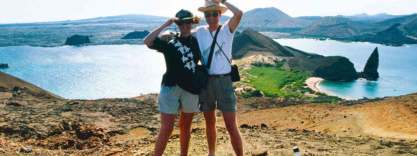 Back to where it all started: Lyn and Paul in the Galápagos