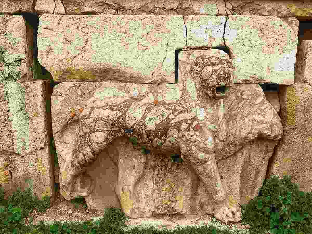 Part of the ancient site hidden away in the village of Iraq al-Amir, Jordan (Rebecca Byrne)