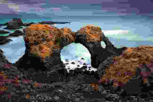 Volcanic cliffs and basalt rocks in Arnarstapi (Mark Stratton)