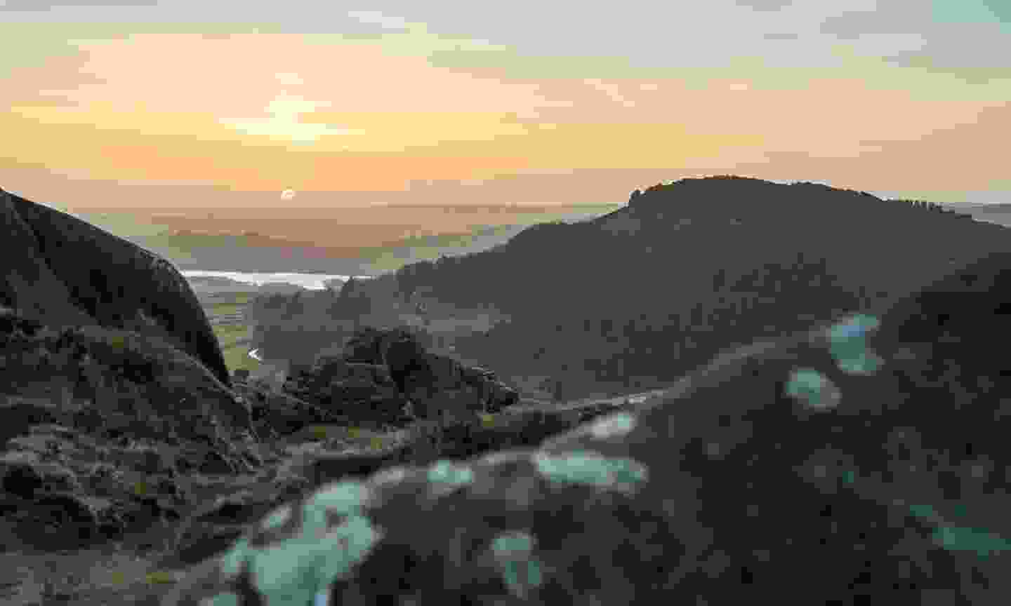 The view over the Black Rocks at sunset, Cromford (Shutterstock)