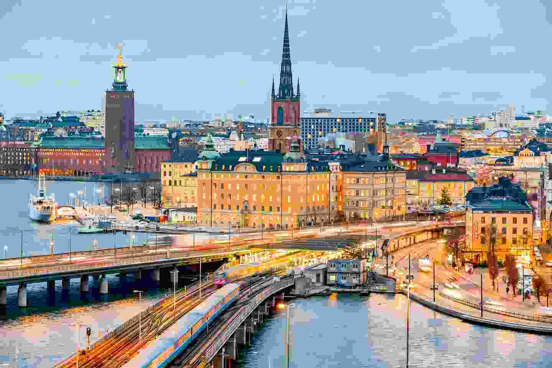 Sweden's capital Stockholm on a December afternoon (Shutterstock)