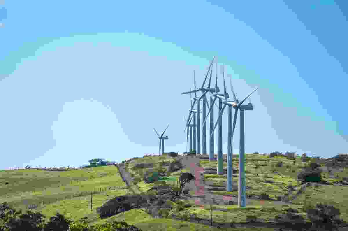 Tilaran Hills in Costa Rica's Guanacaste Province, where there are many wind turbine farms (Shutterstock)