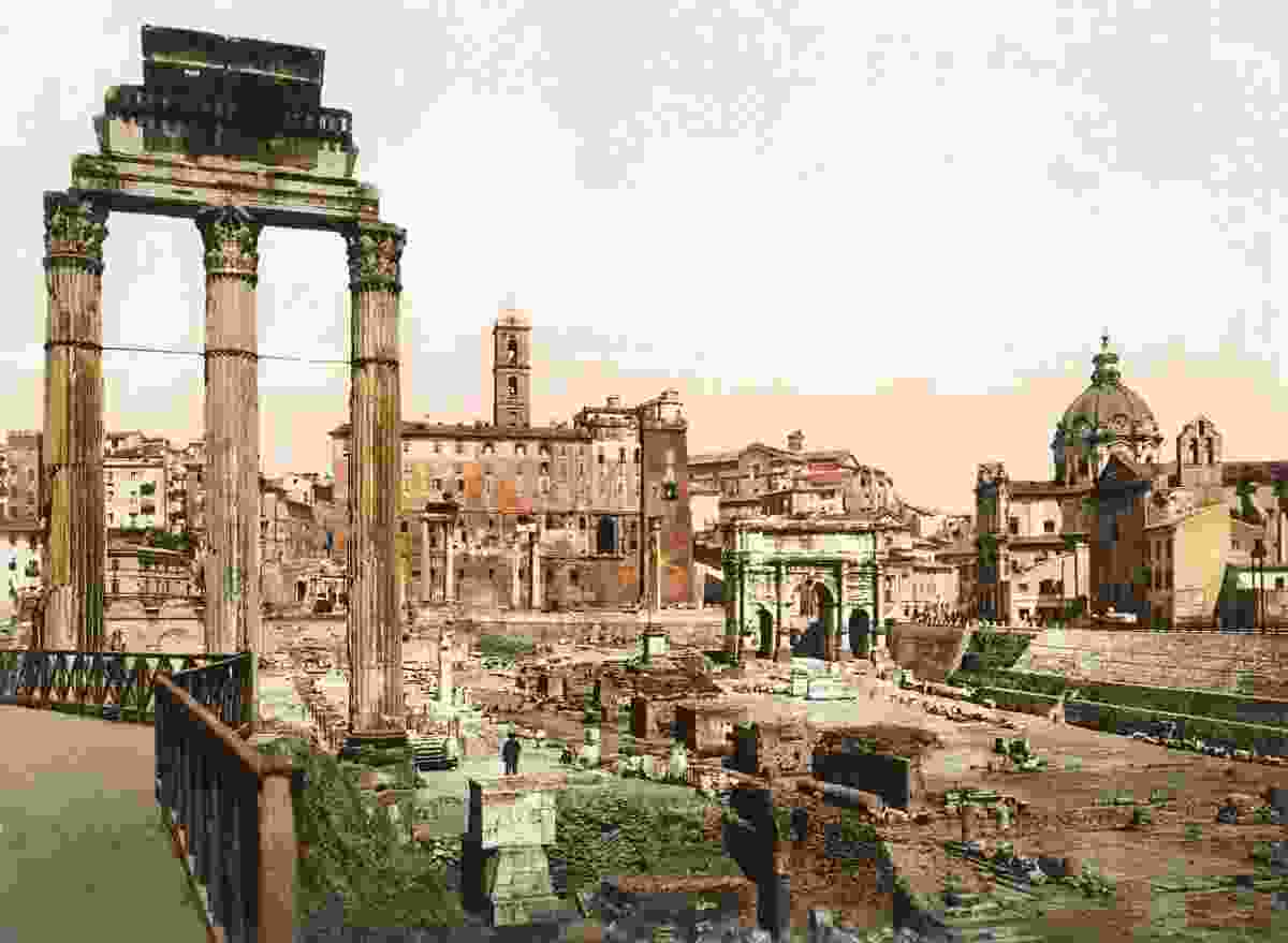 The western side of the Roman Forum seen from the east, Rome  (Marc Walter Collection, Paris)