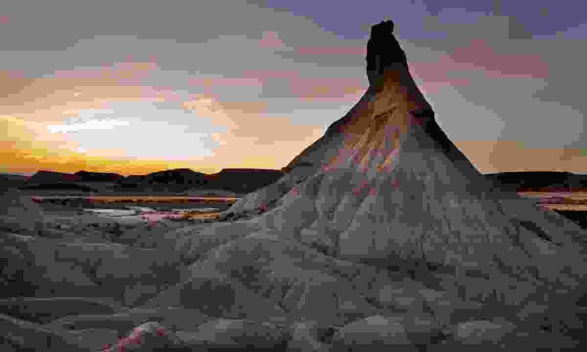 Bardenas Reales at twilight (Dreamstime)