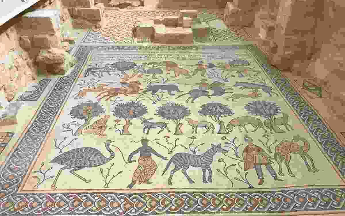 A snapshot of Mount Nebo's 6th Century Church Ruins and Mosaics, Jordan (Rebecca Byrne)