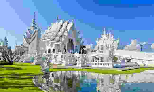 Visit the spectacular Wat Rong Khun in Chiang Rai (Shutterstock)