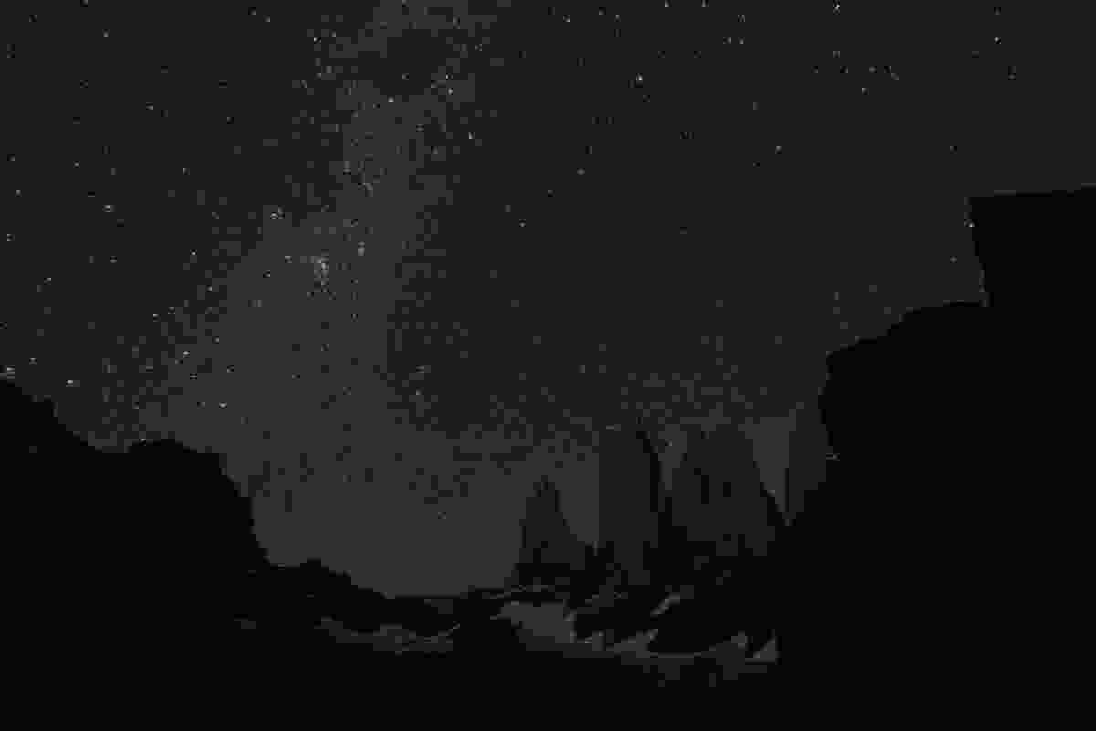 The stars above the Cordillera Paine (Shutterstock)