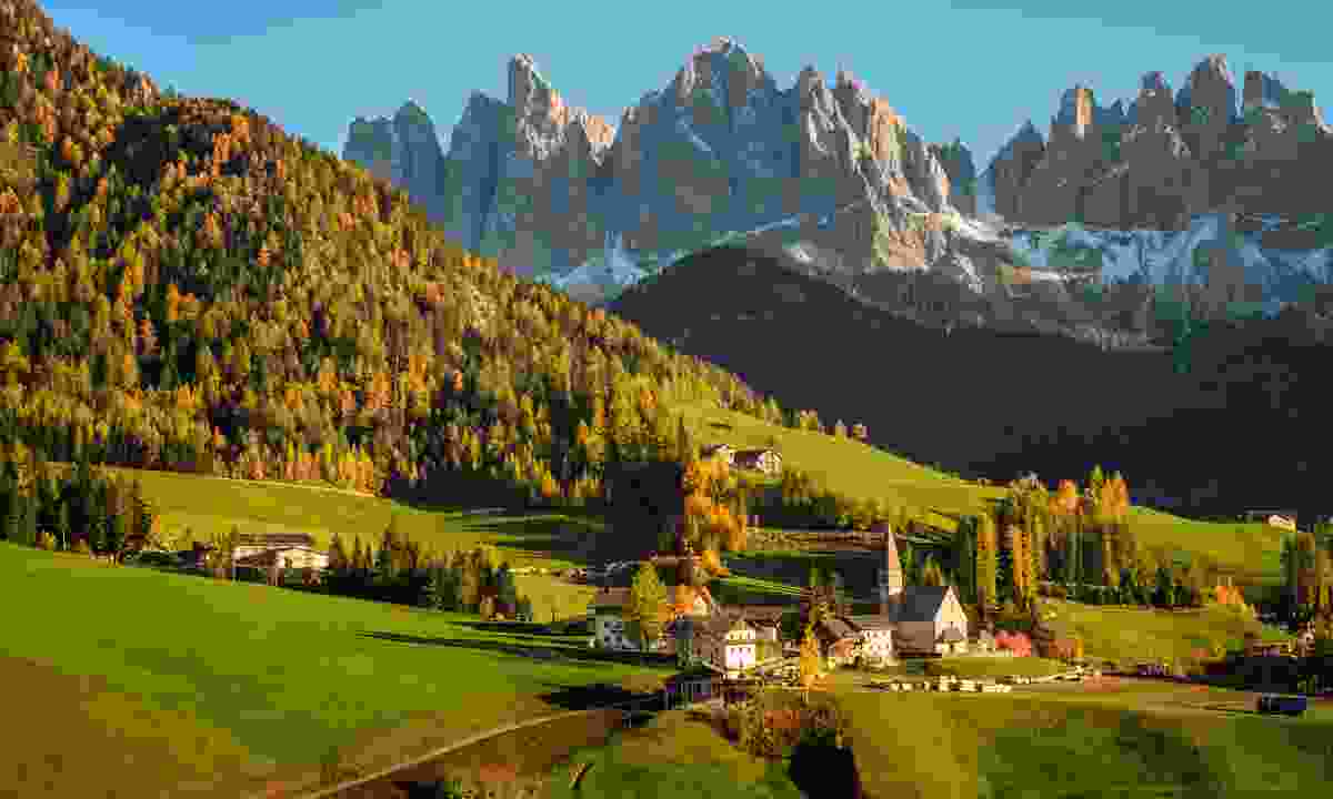 Val di Funes in the Dolomites (Dreamstime)