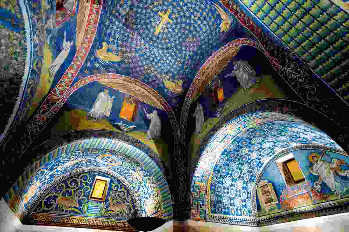 Ceiling mosaic of the Galla Placidia, Ravenna, Italy (Dreamstime)