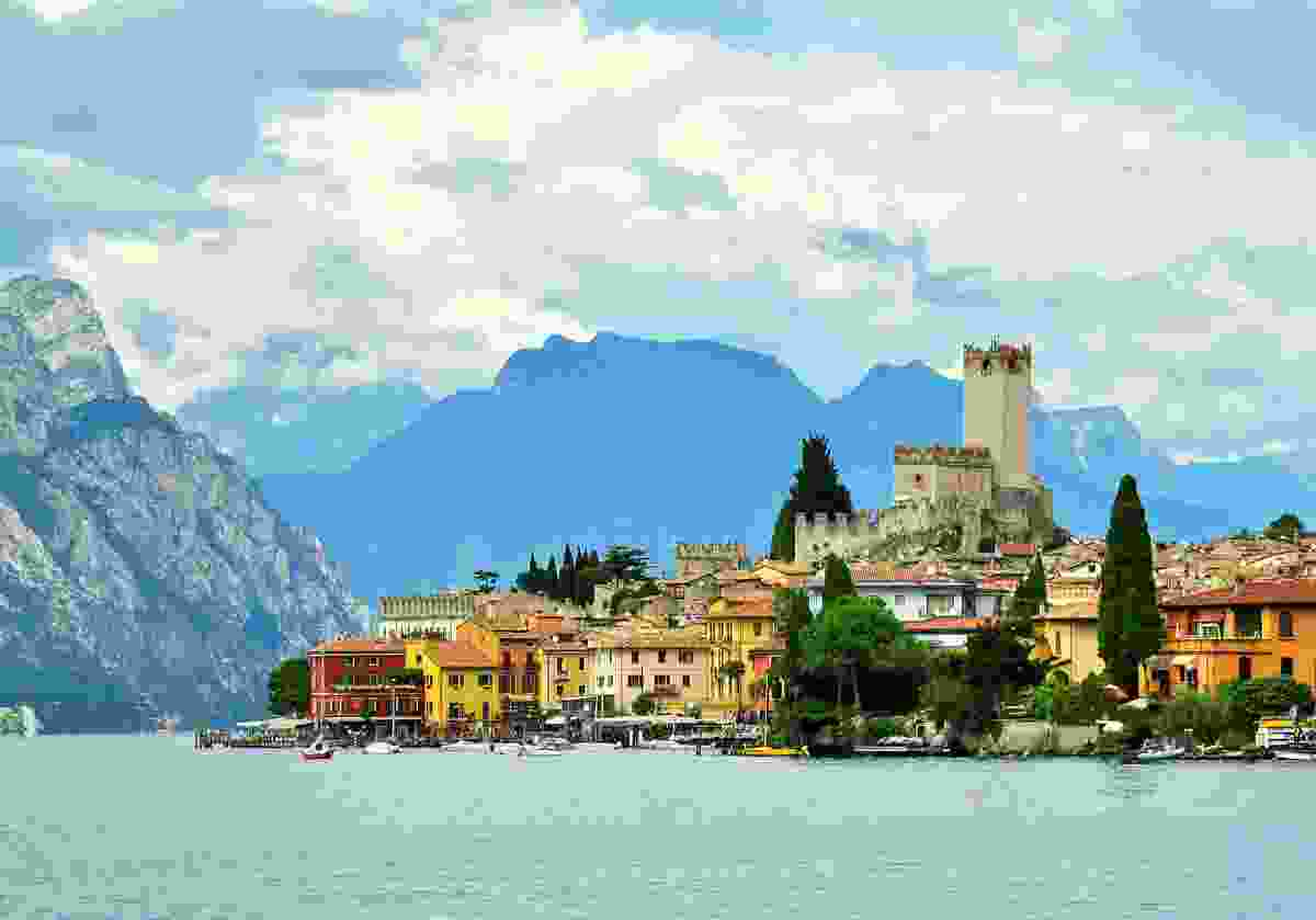 A view of Lake Garda, sans lake monster, in Italy (Shutterstock)