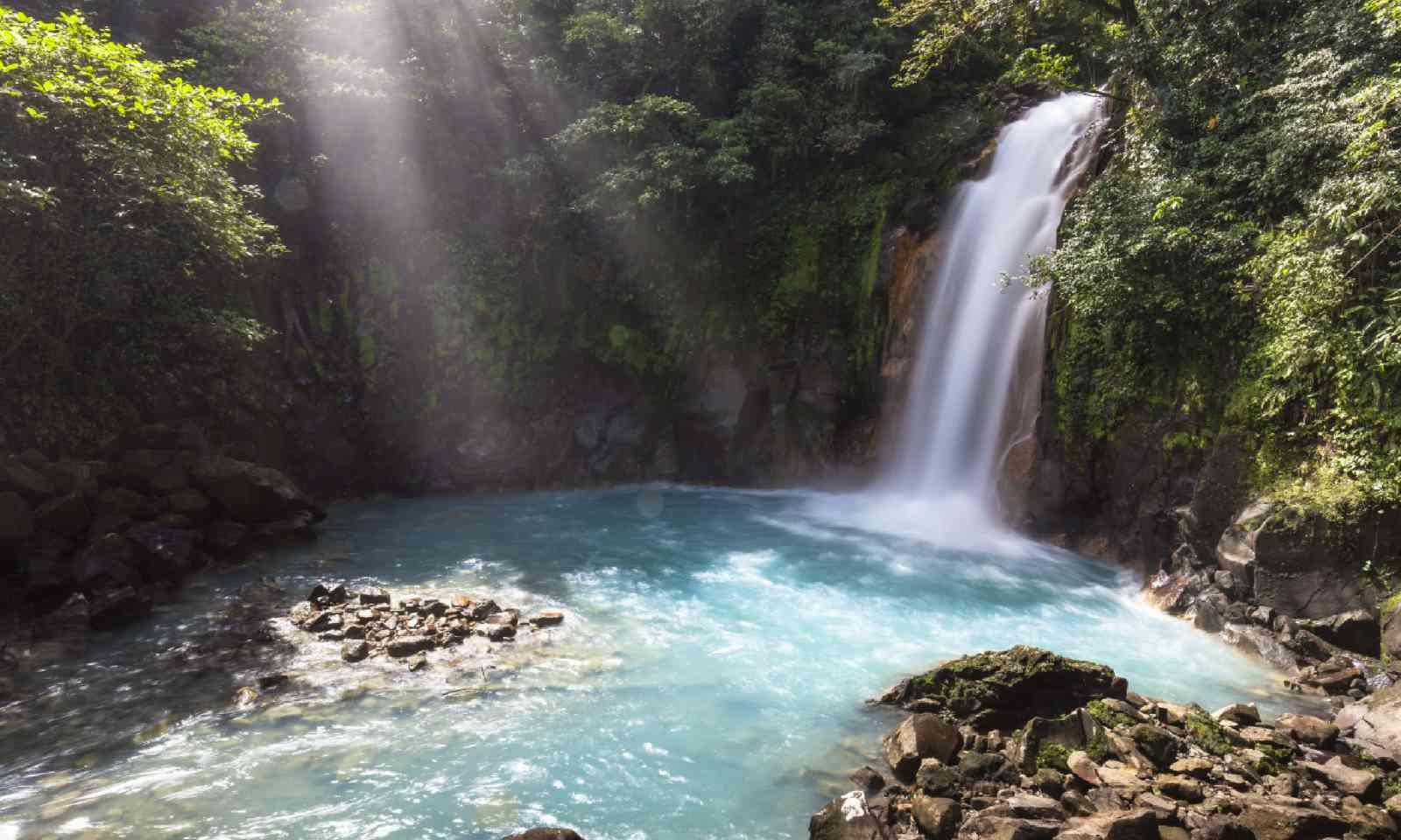 Waterfall Rio Celeste, Tenorio Volcano National Park (Shutterstock)