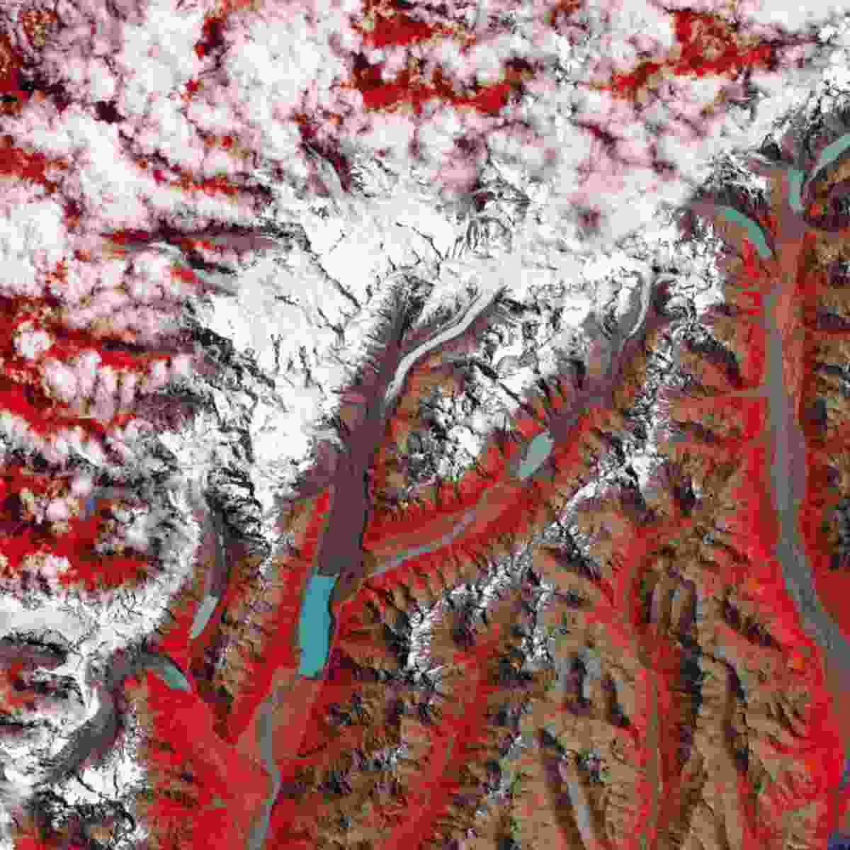 Tasman Lake, New Zealand (NASA Goddard Space Flight Centre and U.S. Geological Survey)