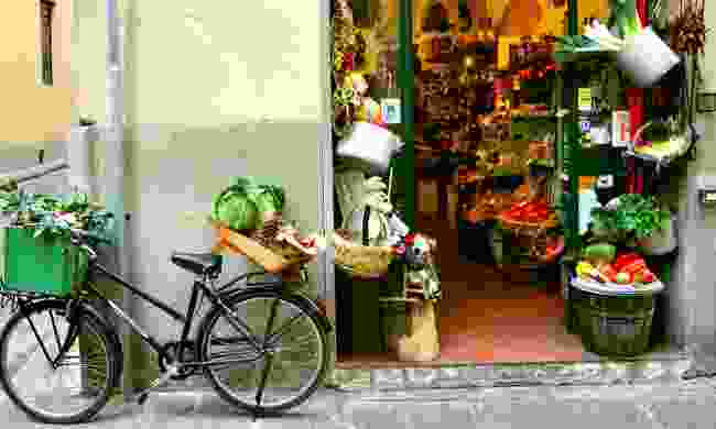 A grocery shop in Florence (Dreamstime)