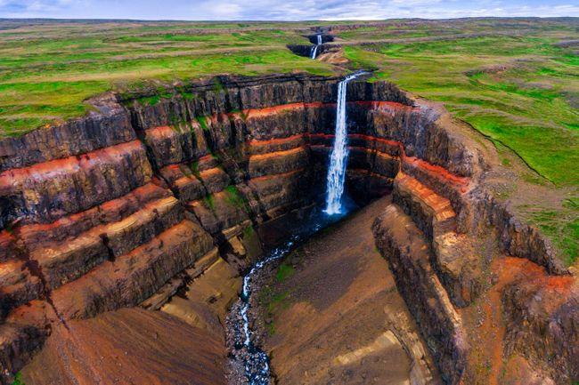 Хенгифосс Водопады Исландии.