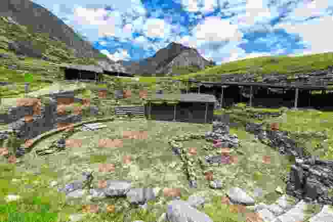 The courtyard of Chavín de Huantar, Peru (Shutterstock)
