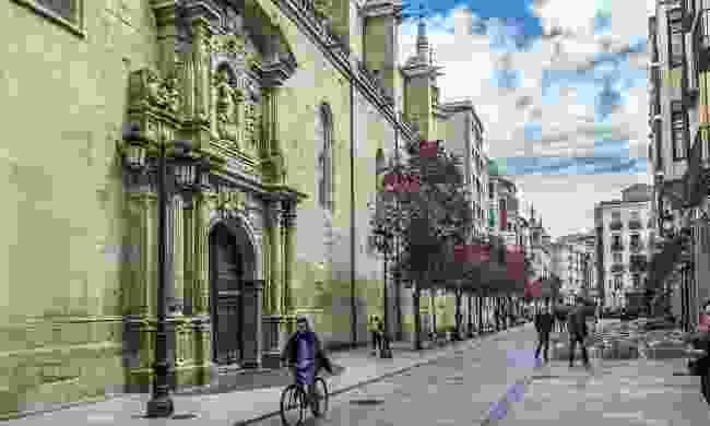 Cycling in Logroño, Spain (Dreamstime)