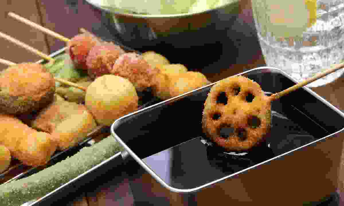 Kushiage - deep fried 'things' (Dreamstime)