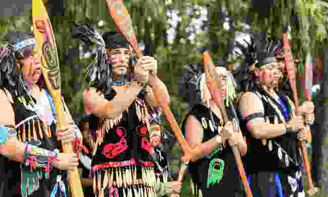 First Nation dancers performing at the Victoria Aboriginal Cultural Festival (Shutterstock)