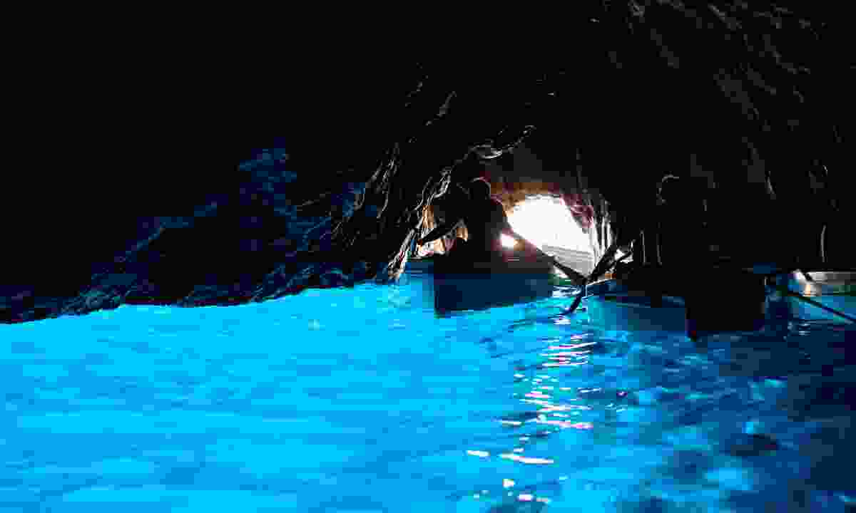 Inside the Blue Grotto (Shutterstock)