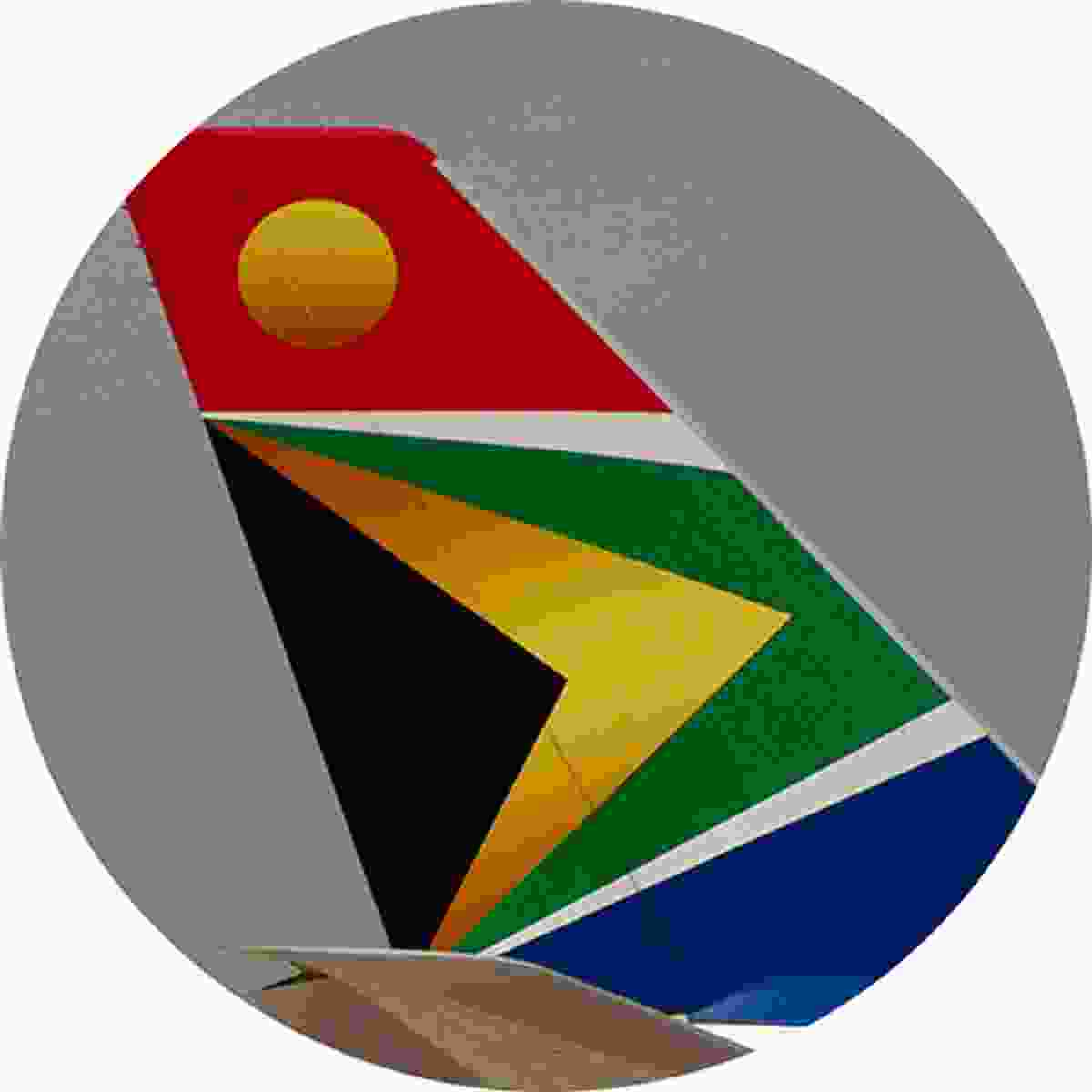 The South African Airways tail fin is a colourful representation of the Rainbow Nation (Shutterstock)