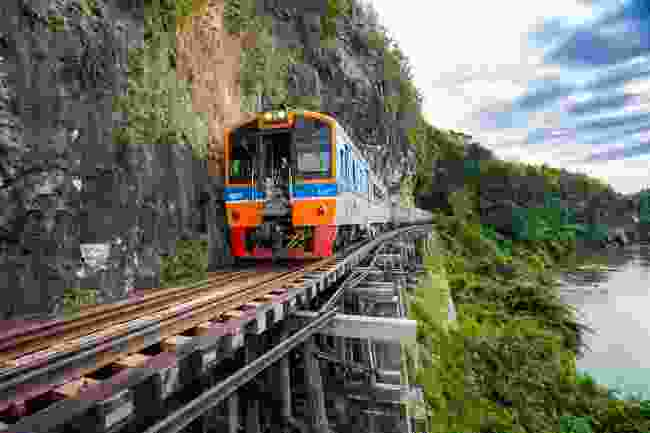 The so-called Death Railway in Kanchanaburi, Thailand (Shutterstock)