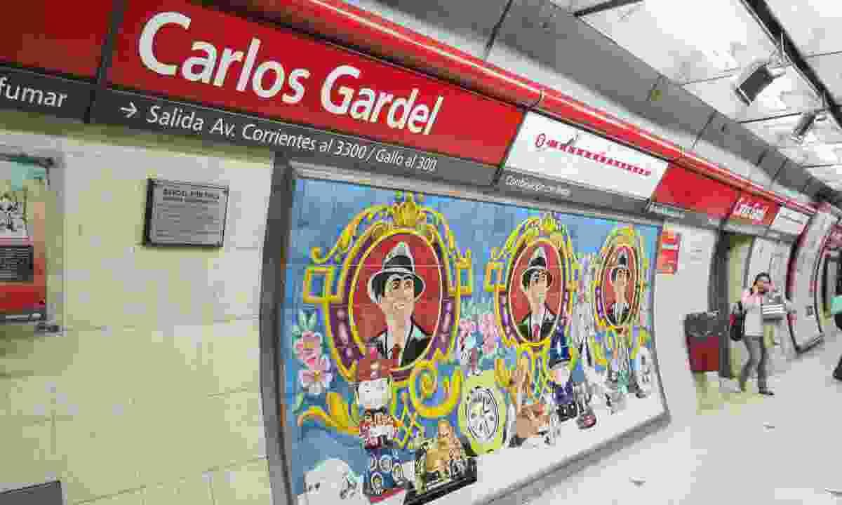 Carlos Gardel subway station in Buenos Aires (Dreamstime)