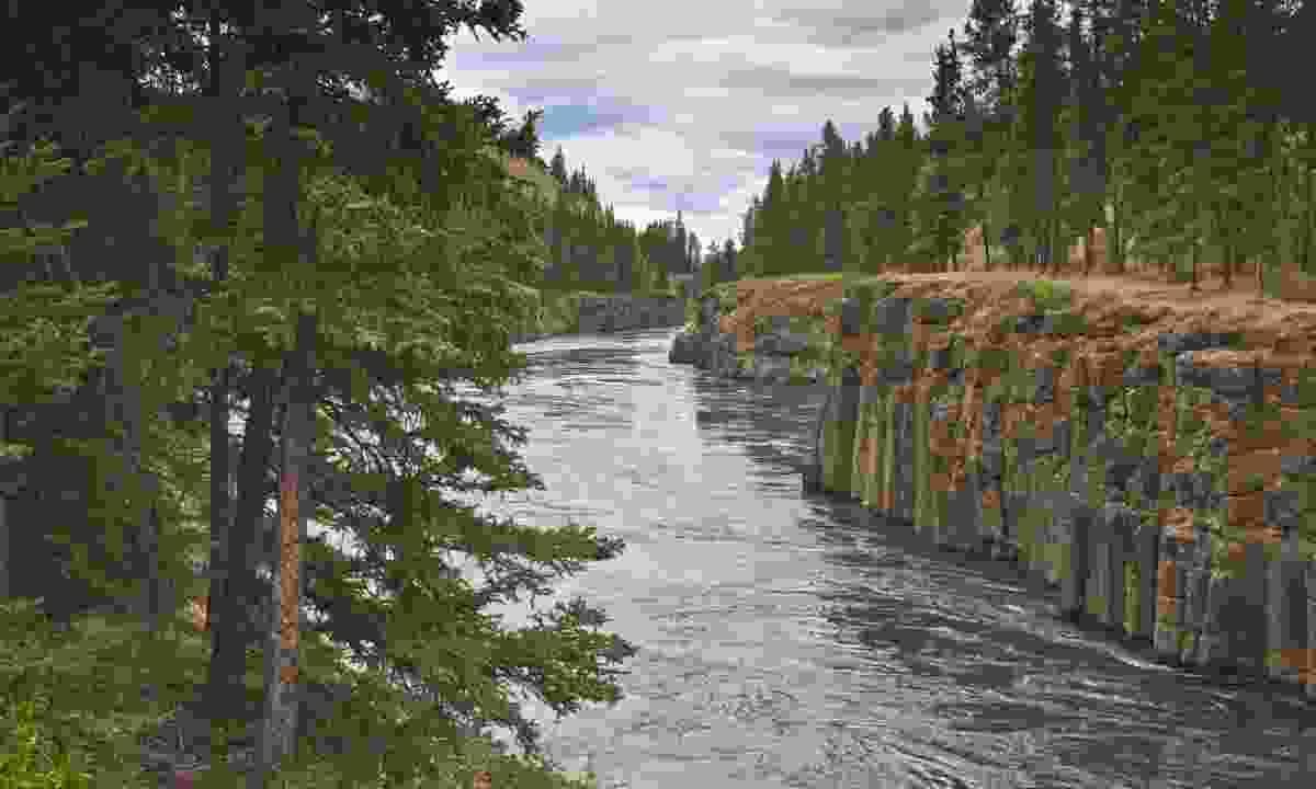 Miles Canyon, Yukon, Canada (Dreamstime)