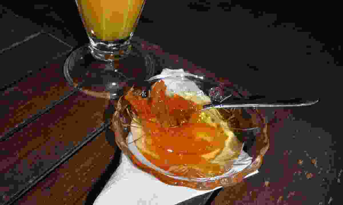 Tasty spoon sweet desert at the Citrus Memories Museum, Chios (Phoebe Smith)