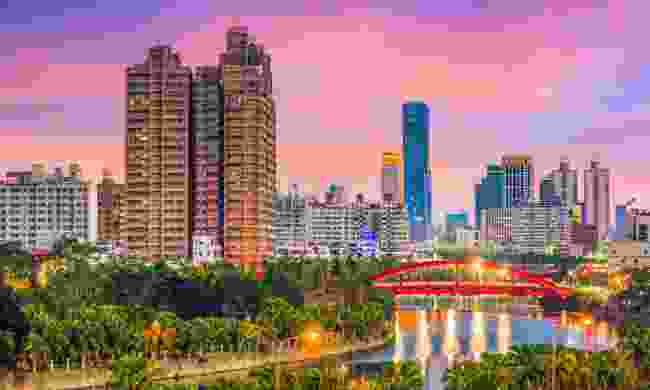 Kaohsiung city, beside the Love River (Dreamstime)
