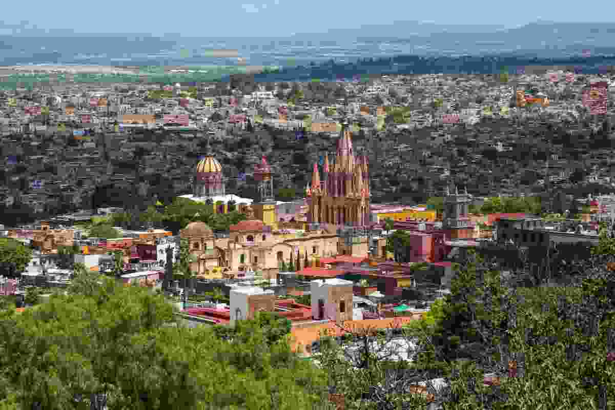 A view over colourful San Miguel de Allende, Mexico (Graeme Green)