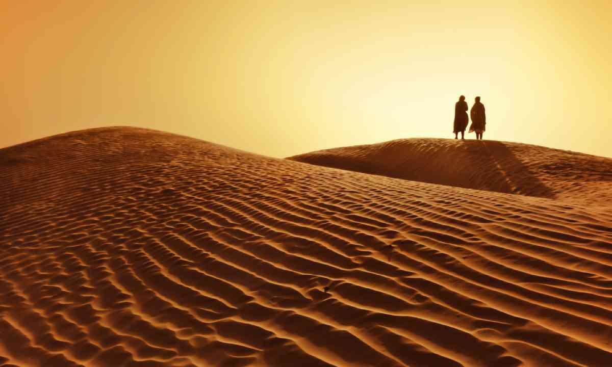 A couple in the Sahara desert (Shutterstock)