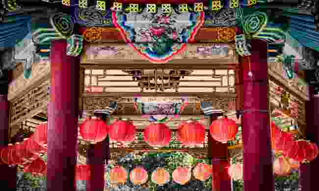 One of the many Gazebos in Yokahoma's Chinatown (Shutterstock)