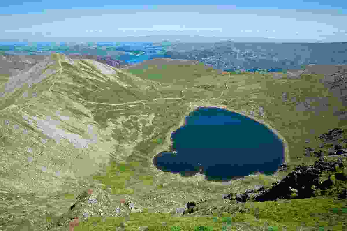 The view from the top of Helvellyn, Lake District. Worth the climb? We think so! (Dreamstime)